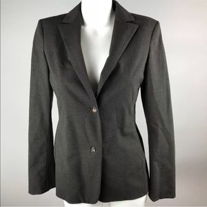 Jil Sander Brown Long Sleeve Blazer Two Button 36